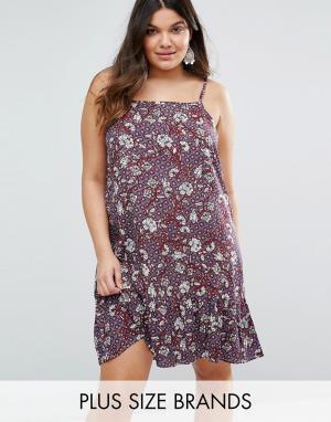 Diya Платье с цветочным принтом Plus. Цвет: мульти