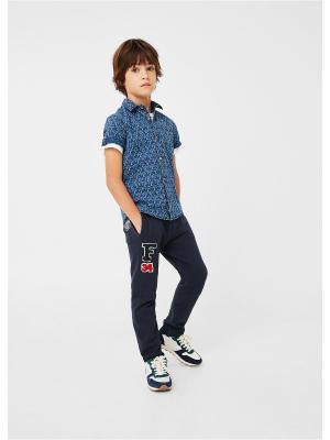 Рубашка - JOAO Mango kids. Цвет: индиго