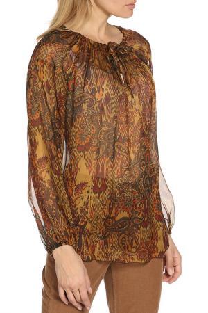 Блузка Dondup. Цвет: коричневый, оранжевый