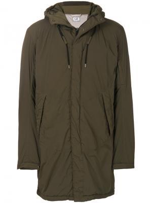 Куртка свободного кроя с капюшоном CP Company. Цвет: зелёный