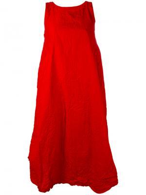 Sleeveless flared dress Daniela Gregis. Цвет: красный