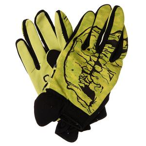 Перчатки сноубордические  Skull Slime Grenade. Цвет: черный,желтый