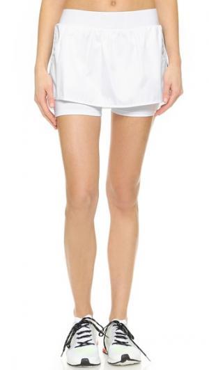 Спортивные теннисные шорты Heroine Sport. Цвет: белый/темно-синий