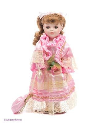 Кукла фарфоровая Берта Lisa Jane. Цвет: бледно-розовый, розовый