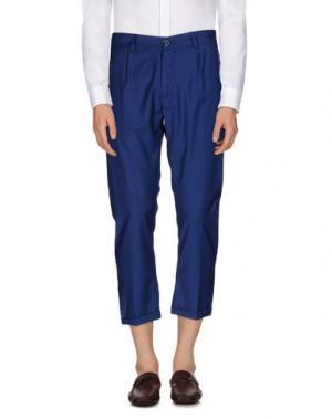 Повседневные брюки 26.7 TWENTYSIXSEVEN. Цвет: синий