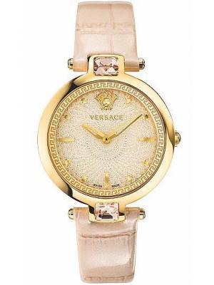Часы Versace. Цвет: розовый, золотистый