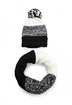 Комплект снуд и шапка Avanta. Цвет: черно-белый