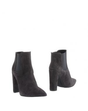 Полусапоги и высокие ботинки LE STELLE. Цвет: свинцово-серый