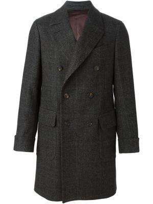 Двубортное пальто кроя миди  Delloglio Dell'oglio. Цвет: серый
