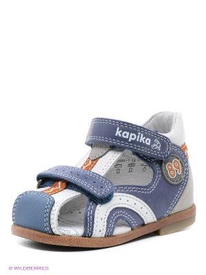 Сандалии Kapika. Цвет: голубой