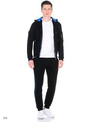 Спортивный костюм KOT'S. Цвет: черный, синий, лазурный, голубой