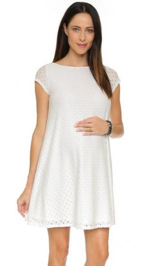 Воздушное кружевное платье для беременных Ingrid & Isabel. Цвет: серый