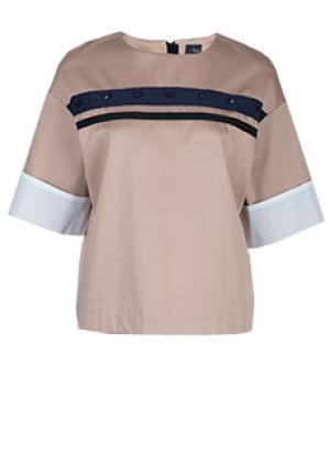 Блуза NOLO. Цвет: коричневый