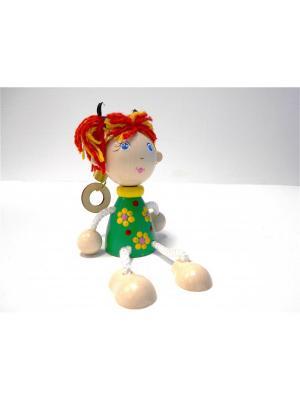 Игрушка подвеска на пружине - Девочка в зелёном платье Taowa. Цвет: зеленый