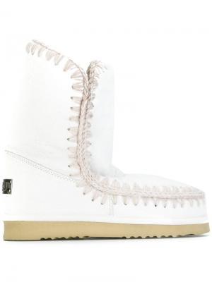 Зимние ботинки Eskimo Mou. Цвет: белый
