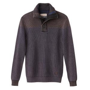 Пуловер крупной вязки PETROL INDUSTRIES. Цвет: каштановый какао,синий морской