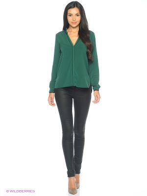 Блузка MEXX. Цвет: темно-зеленый