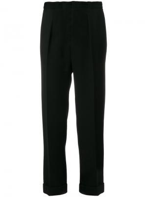 Прямые строгие брюки Roland Mouret. Цвет: чёрный