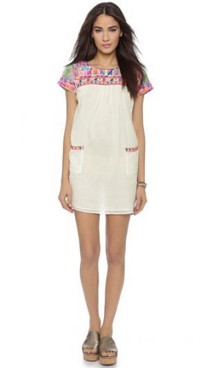 Пляжное платье Chica Christophe Sauvat Collection. Цвет: оттенок белого