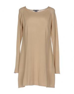 Короткое платье JEI O'. Цвет: песочный
