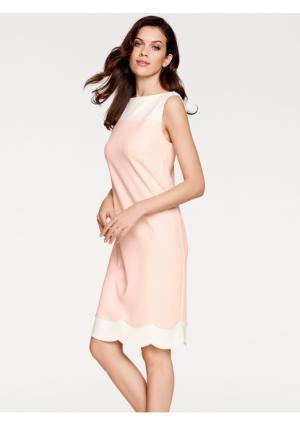 Коктейльное платье ASHLEY BROOKE by Heine. Цвет: розовый/экрю