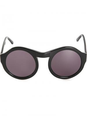 Круглые солнцезащитные очки Chandler X Selima Optique. Цвет: чёрный