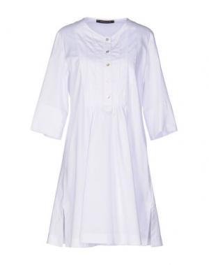 Короткое платье TENAX. Цвет: белый