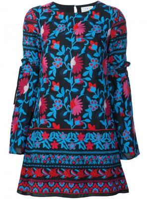 Платье с цветочной вышивкой Tanya Taylor. Цвет: чёрный