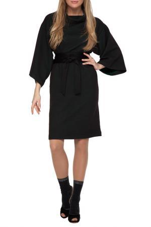 Платье Gloss. Цвет: черный, темно-зеленый