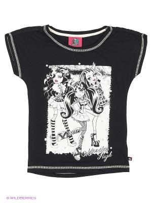 Футболка Monster High. Цвет: черный