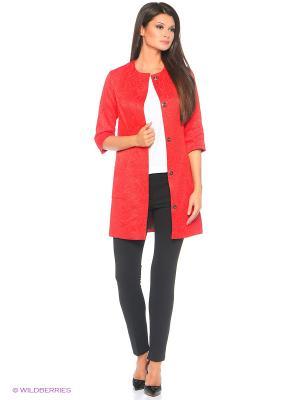 Пальто Samirini. Цвет: красный