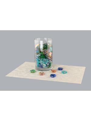 Набор декоративных камешков Кленовые листочки EL CASA. Цвет: синий, зеленый, коричневый, прозрачный, оранжевый