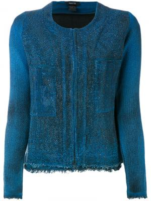 Пиджак с отделкой Avant Toi. Цвет: синий