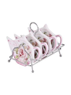 Набор подставок для чайных пакетиков 4 шт. PATRICIA. Цвет: розовый
