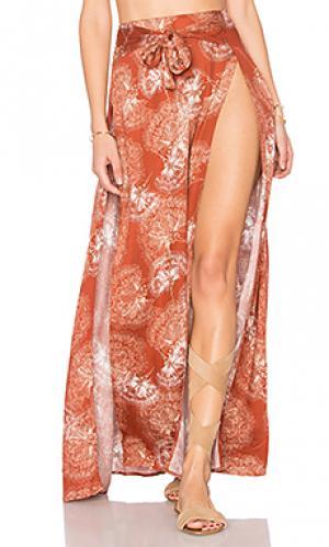 Макси-юбка с высоким разрезом tigress Somedays Lovin. Цвет: ржавый