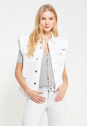 Жилет джинсовый Calvin Klein Jeans. Цвет: белый