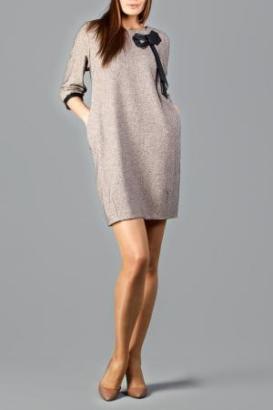 Платье CLAUDIA MILLEN. Цвет: бежевый