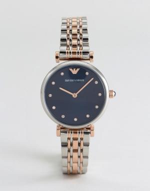 Emporio Armani Наручные часы из комбинированных металлов AR11092. Цвет: серебряный
