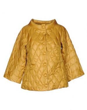 Пуховик BPD BE PROUD OF THIS DRESS. Цвет: охра