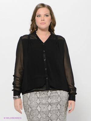 Блузка LE MONIQUE. Цвет: черный