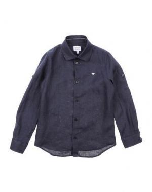 Pубашка ARMANI JUNIOR. Цвет: темно-синий