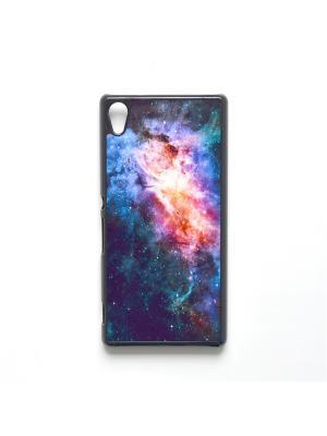 Чехол для Sony Xperia Z3 Plus Космос Boom Case. Цвет: темно-синий