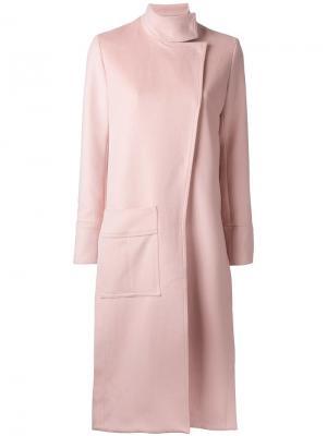 Асимметричное пальто Manning Cartell. Цвет: розовый и фиолетовый