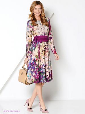 Платье Personage. Цвет: фиолетовый, коричневый