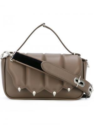 Декорированная сумка на плечо Marco De Vincenzo. Цвет: серый