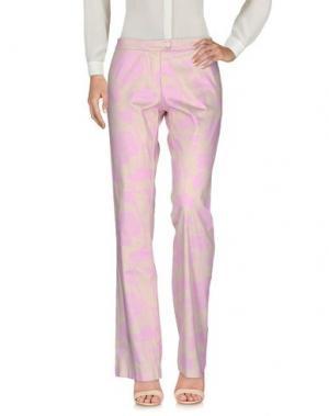 Повседневные брюки MAESTA. Цвет: розовый