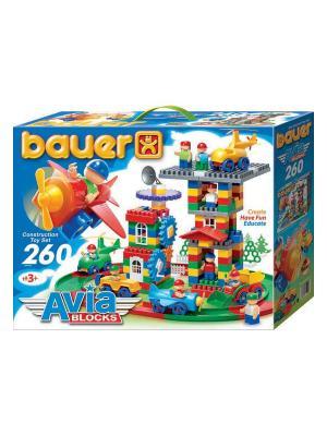 Конструктор Bauer серии Avia 260 эл. (в коробке) 8/8. Цвет: голубой