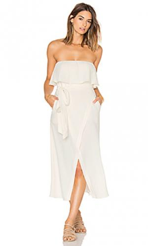 Solid strapless dress Vix Swimwear. Цвет: белый