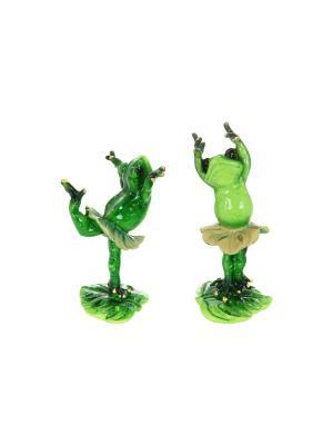 Фигурка декоративная Лягушки-балерины Elan Gallery. Цвет: зеленый