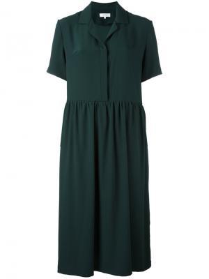 Платье-рубашка Carven. Цвет: зелёный